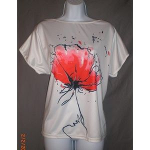 Tops - White Top with Flower
